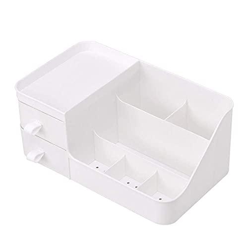 DLILI Caja de Almacenamiento Organizador Caja de Almacenamiento de cosméticos Artículos Diversos de Escritorio Joyero Almacenamiento en el hogar (Blanco)