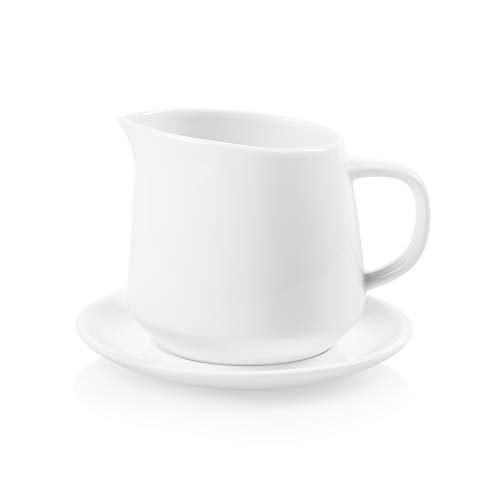 Corelle Coordinates Sauce Pitcher with Saucer, White