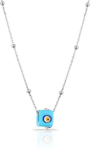 WYDSFWL Collares Malefica Colgante Joyas de Plata 925 con Turquesa con Cadena