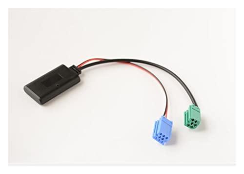 CHENCHEN Demander Adaptador de Audio de Manos Libres y Bluetooth. Aux-in ISO 6 Pin Fit for Renault Espace Twingo Scenic Laguna Radio UpdateList estéreo (Color Name : Bluetooth)