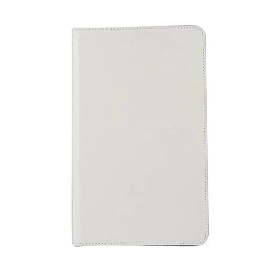 Pestaña A6 10.1 Funda de rotación de 360 Grados Folio PU Funda de Cuero PU para Samsung Galaxy Tab A 6 10.1 T580 T585 10.1'Funda de Tableta-Blanco