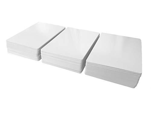 Tarjetas en Blanco de borrado en seco (tamaño de Cartas de póquer) (160 Tarjetas)