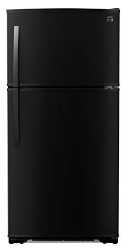 Kenmore 4670719 Ice Maker and 18 Cubic Ft. Total Capacity Top Freezer Refrigerator, Black