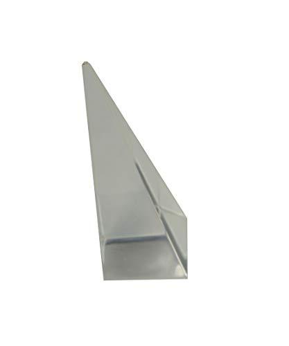 Soporte de anillo de pirámide de acrílico universal con piedra de nacimiento de oro rosa (transparente, número de soportes 1)