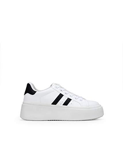 BOSANOVA Zapatillas Blancas con Plataforma Blanco 37
