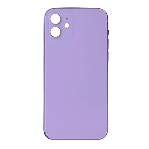 Best Shopper - Replacement Back Housing Glass Cover with Camera Lens for Apple iPhone 12 - Purple