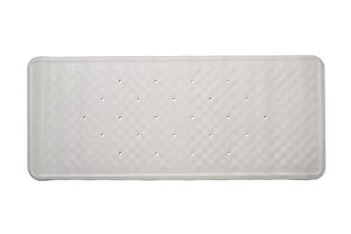 Croydex Hygiene-n-Clean - Alfombrilla de Goma para Ducha (antibacteriana, tamaño Grande, 37 x 90cm), Color Blanco