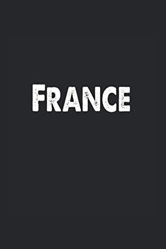Francia: Libreta Din A5 Francia regalo francés con 120 páginas