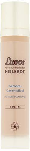 Luvos Heilerde Getöntes Gesichtsfluid BRONZE, für einen ebenmäßig, strahlenden Teint, 1 X 50 ml, mit Aprikosenkernöl, Naturkosmetik ohne Mikroplastik, vegan