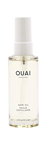 OUAI Hair Oil. Lightweight, Multitasking Oil Protects from UV/Heat Damage and Frizz, Adds Mega Shine and Smooths Split Ends. Safe for Colored Hair. Free from Parabens, Sulfates and Phthalates (1.5 oz)
