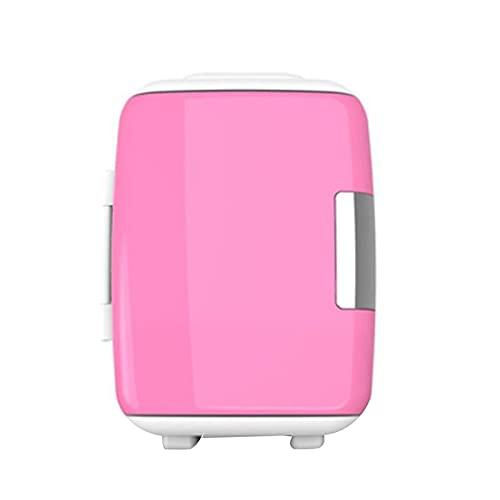 Mini Fridge Portable Mini Refrigerator, Compact Refrigerator with AD/CD Power Supply, Adjustable Temperature (Color : Pink, Size : 110V)