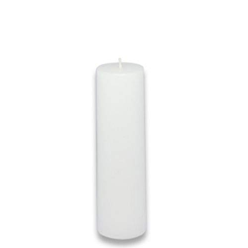 Zest Candle Pillar Candles, 2 by 6-Inch, White Citronella