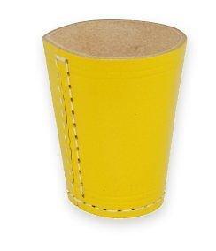 Leder Würfelbecher Color / ohne Würfel, Standard Größe 9cm (gelb)