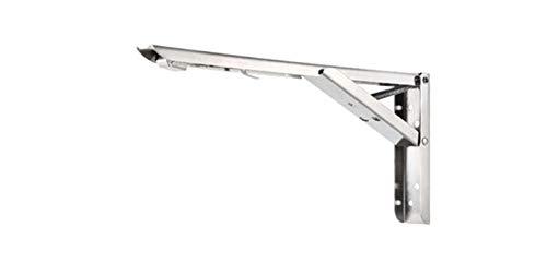 XIARUI Bracket 1/2PCS Soporte Plegable 195-295mm for estantería Mesa de Mesa Soporte montado en la Pared COLLPLABLE Largo DE Largo Arma Espacio Strong (Color : Silver 295mm)
