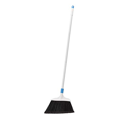 Amazon Basics Heavy-Duty Broom, Blue and White