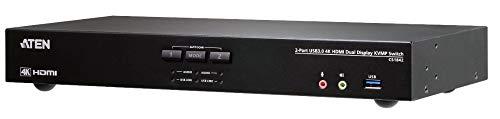 ATEN CS1842 2-Port True 4K HDMI Dual-View KVM Switch mit Audio & USB 3.0Hub