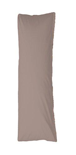 Bellana Seitenschläferkissen Bezug Stillkissen Mako Jersey 40x140 cm Farbe: taupe