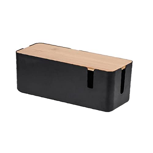 Caja organizadora de cables, caja ordenadora de cables de escritorio, caja de...