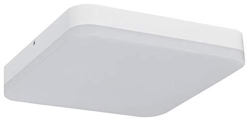 Preisvergleich Produktbild Müller-Licht LED Wand-und Deckenleuchte Ideal für Den Flurbereich,  Quadratisch mit Bewegungs-und Dämmerungssensor,  3000 K,  Plastik,  24 W,  Warmweiß,  mit Sensor,  20500085