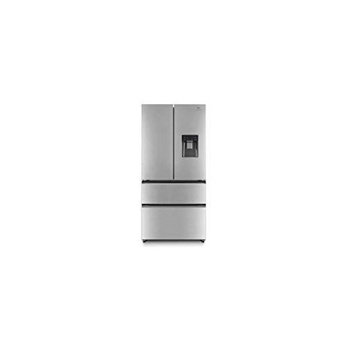 Continental edison ceraf536dix réfrigérateur Multi portes-536 l (350+186)-Froid ventilé- Classe a +-l 83,3 x h 182 cm-INOX