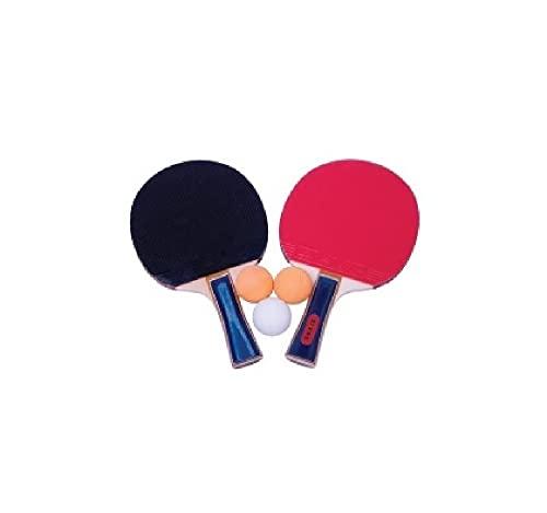 AMAYA 672400 Ensemble de Raquettes de Tennis de Table, Multicolore