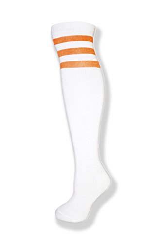 Unisex White Knee High Team Tube Socks with...