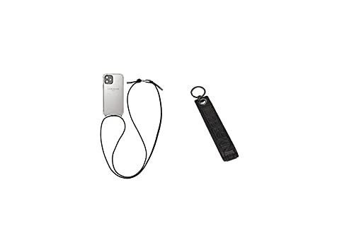Liebeskind Berlin Mobile Case, Cover per Telefono Donna, Nero, Iphone 12 (HxBxT 14cm x 7cm x 0,8cm) + Keyring Donna, Nero, Taglia Unica