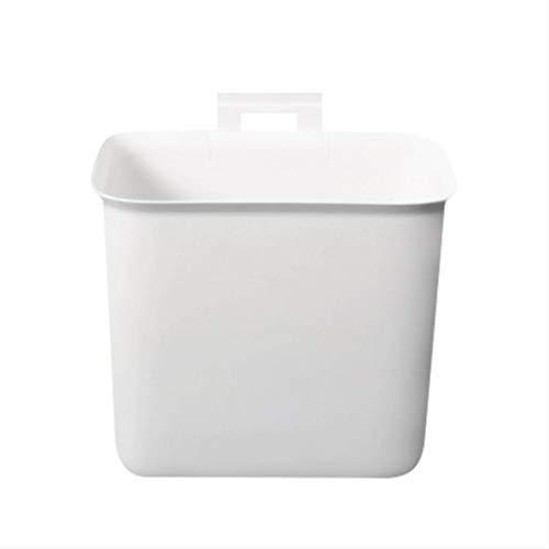 Wall-Mounted Kleine Prullenbak Vuilnisbak Zonder Deksel Deur Van De Keukenkast Huis Opknoping Waste Paper Basket Garbage Bin Voor Car Bedroom,White