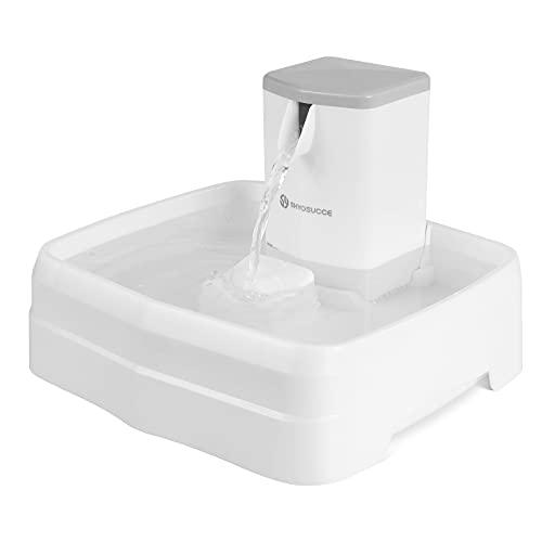 SHYOSUCCE Fuente para Gatos, 3.1L Fuente para Perros con Flujo de Agua Ajustable, Sistema de Triple Filtro, Material de Resina PP, Bebedero Automático Mascotas