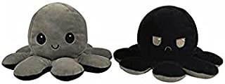 Flip two-sided Octopus Plush Stuffed Doll Toy Different Sides To Show Different Moods