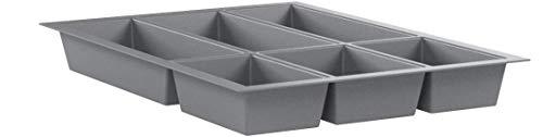 Orga-Box Cubertero Gris Plata para Cajones de 45 cm p.ej. Nobilia Desde 2013 (473,5 x 344 mm) Cubertero III