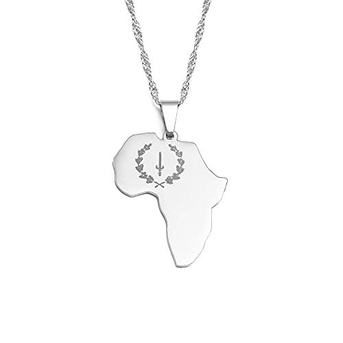 Collar De Mapa - Collar Con Colgante De Mapa De África, Encanto, Símbolo Étnico, Colgante De Cadena Fina De Mapa Africano, Para Hombres, Mujeres, Joyería De Hip Hop, Regalo De Fiesta, Aniversario,