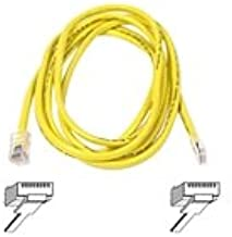 Belkin A3L791-07-YLW 7-Feet 10/100BT RJ45M/RJ45M CAT5E Patch Cable (Yellow)