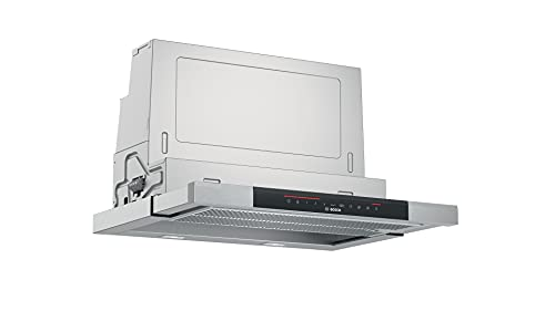 Bosch DFS067K51 Serie 8 Flachschirmhaube / A / 60 cm / Edelstahl / wahlweise Umluft- oder Abluftbetrieb / DirectSelect-Bedienung / 2 Intensivstufen / Metallfettfilter (spülmaschinengeeignet)