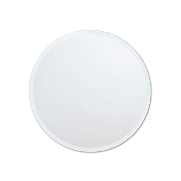 Better Bevel 18″ x 18″ Frameless Round Mirror | 1″ Beveled Edge | Bathroom Wall Mirror