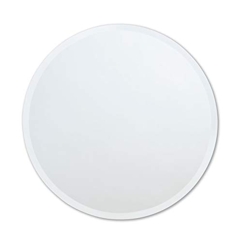 "Better Bevel 18"" x 18"" Frameless Round Mirror 