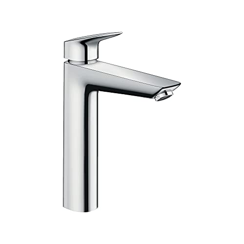 hansgrohe Logis Modern Low Flow Water Saving 1-Handle 1 10-inch Tall Bathroom Sink Faucet in Chrome, 71090001