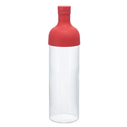 Hario 4977642034419 Filter Bottle 750ml Red FIB-75-R (Japan Import), Kunststoff, rot