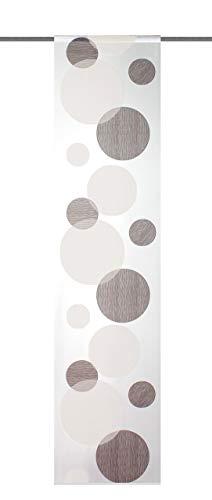 Home Fashion 87984-860 - Tenda a Pannello, in Stoffa da Arredamento Voile, 245 x 60 cm, Colore: Pietra