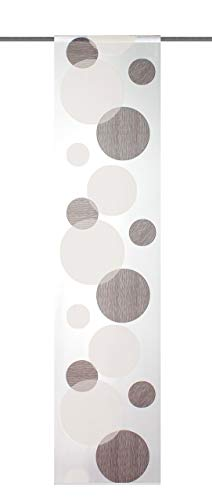 Home Fashion 87984-860 Scherli - Panel japonés, Fabricado en Voile, 245 x 60 cm, Color marrón