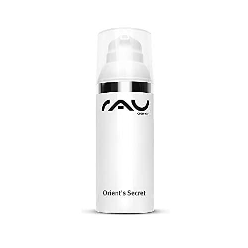RAU Cosmetics Zarte Anti Aging Creme Orient´s Secret 50 ml - Anti Falten Tagescreme für Trockene, Reife & Sensible Haut - Mit Perlenextrakt, Mandelöl, Amnethystpulver, Shea Butter, Hyaluron, Vitamin E