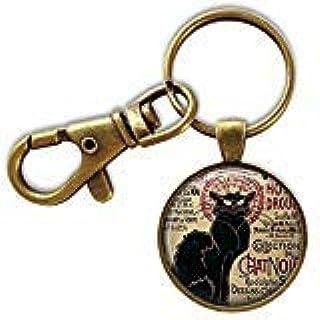 Chat Noir llavero, gato negro, llavero para amantes de los ...