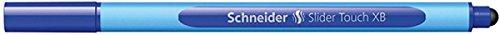 Schneider Schreibgeräte Kugelschreiber Slider Touch, Kappenmodell, XB, blau, Schaftfarbe: Cyan-Blau