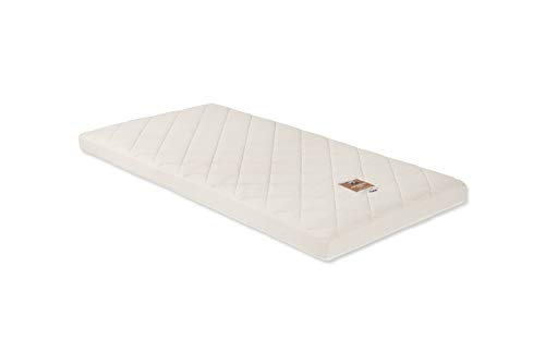 Naturalmat Coco Mat, Organic Handmade Hypoallergenic Cot Bed Mattress for Babies and Toddlers, Quilted, 140 x 70 x 10 cm