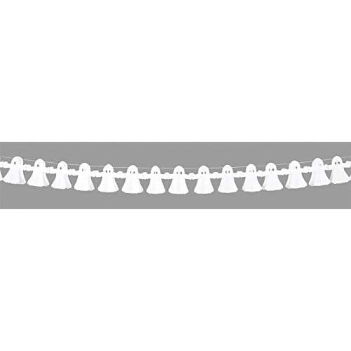 Boland- Ghirlanda Decorazione Fantasmi, Bianco, 4 m, 74563