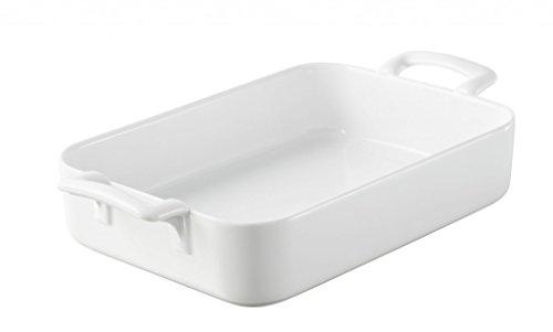 Revol 614850 Plat à Four Rectangulaire Porcelaine Blanc 26 x 18,5 x 6 cm