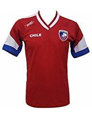 Chile Soccer - Camiseta de fútbol para hombre, diseño de la Nueva Copa América 2016 - Rojo - Large
