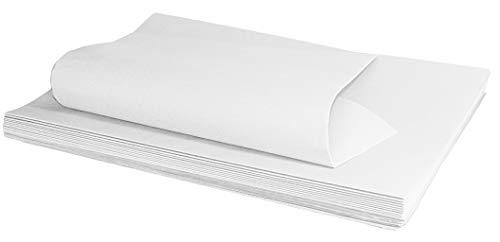 FLORIO CARTA Confezione da 20 Fogli Formato 100x140 cm di Carta Kraft Colore Bianco da 80 gr Ottima per Confezionare Regali o Usi Vari