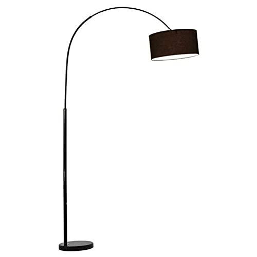 GAXQFEI Lámpara de Pie Lámpara de Pie Moderno Regulable Sala de Estar Piso Luz de Color Temperaturas Y Brillo Pantalla de Tela Negra Lámpara de Pie Forjada Base de Mármol