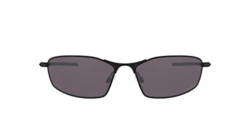 Oakley Men's OO4141 Whisker Oval Sunglasses, Matte Black/Prizm Grey, 60 mm